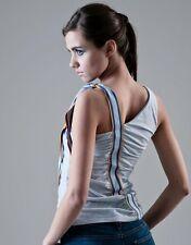 FORNARINA LTD top t-shirt canotta maglietta donna con arricciature iron M BNWT