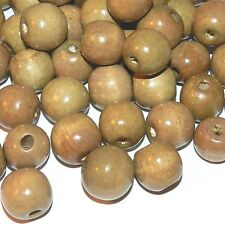 WXL660L2 Brown 16mm Round Rondelle Wood Beads 16-oz Package (280/pkg)