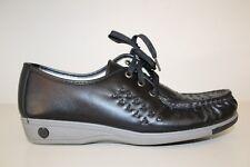 Softspots Womens Bonnie Oxford Shoes Sz 8.5 N Comfort Black Leather Lace USA