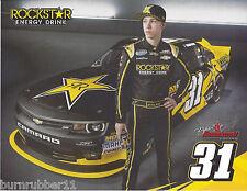 "2014 DYLAN KWASNIEWSKI ""ROCK STAR ENERGY"" #31 NASCAR NATIONWIDE SERIES POSTCARD"