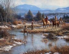 """""""Trappers in the Wind Rivers"""" Martin Grelle Fine Art Giclee Canvas"""