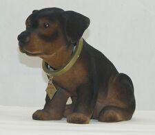 Wackel Hund Figur Hund Rottweiler braun groß Höhe 17 cm Figur mit Wackel Kopf