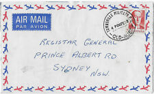 1973 TOWNSVILLE MILITARY PO QLD commercial cover Bruce airmail