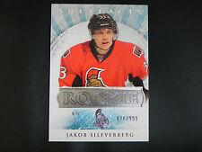 2012-13 UD Artifacts ROOKIE #187 Jakob Silfverberg Ottawa Senators RC / 999
