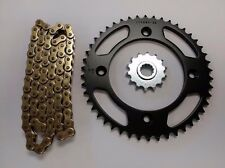 KTM 85SX 17/14 WHEELS NEW SPROCKET 14/46 & GOLD CHAIN SET/KIT 2004 - 2015 BLK
