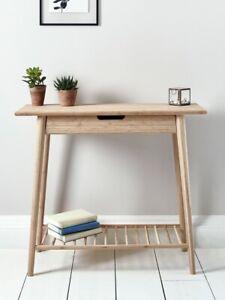 New - Aalto Console Table (Cox and Cox) Beige/Oak finish