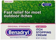 Benadryl Itch Stopping Cream, Original Strength 1oz Each