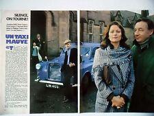 COUPURE DE PRESSE-CLIPPING : UN TAXI MAUVE tournage [6pages] 01/1977 A.Belli