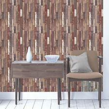 BOIS PLANCHES PAPIER PEINT - naturelle - fd40887 décor fin en bois recyclé