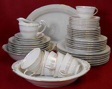 SONE china GOLDEN (Greek) KEY pattern 46-piece SET SERIVCE for Six (6) + Serving