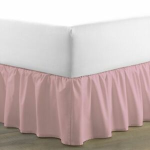 Drop Length Ruffle Bed Skirt 1000 TC Egyptian Cotton Full Size & Solid Color
