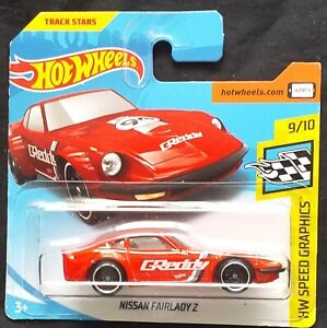 HOT WHEELS 2018  NISSAN FAIRLADY Z, RED, SHORT CARD .