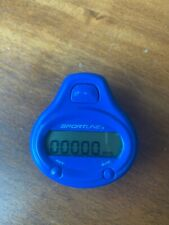 SPORTLINE Blue Digital Pedometer Step Counter with New Battery