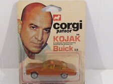 CORGI JUNIOR 68 KOJAK'S BUICK REGAL 1977 SEALED LOT 9 VERY NEAR MINT SEALED CARD