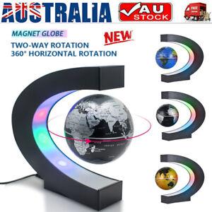 Magnetic Levitation Rotating Globe World Map LED Lamp Light Education Demo Home
