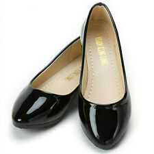 Damen Flache Ballerinas Flats Arbeit Slipper Loafers Halbschuhe Schuhe Freizeit