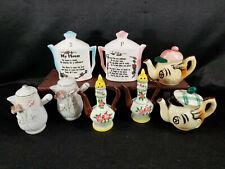 Vintage SALT & PEPPER SHAKERS Japan Teapots Lot (4 pr) Asian Polymorphic Elephan
