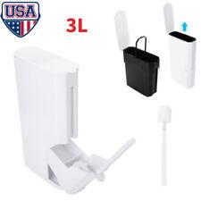 New Trash Can Set With Toilet Brush Bathroom Waste Garbage 3L Bin Toilet Dustbin