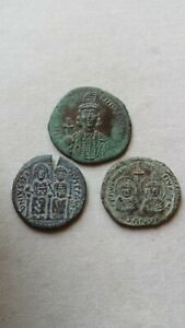 Lot of 3 byzantine follis coins