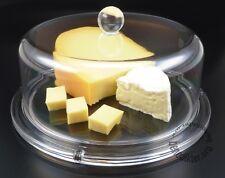 KÄSEGLOCKE Kunststoff klar Ø 24 cm Tortenhaube KÄSEBEHÄLTER Servierplatte