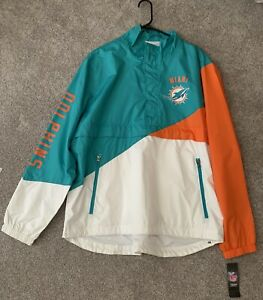 Miami Dolphins NFL Jacket Official Miami Dolphins Jacket NEW NFL Authentic