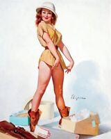 GIL ELVGREN 8x10 PIN-UP GIRL ART MINT PRINT-Young Blonde Wife Panties Thighs Hot