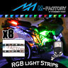 For Hyosung GT250R GT650 ST7 GV650 8x Multi Color LED Light Strip & Remote