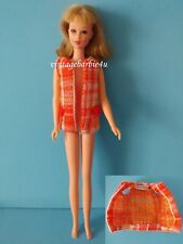 Vintage Barbie Francie Doll Plaid Plans #1767 Vest Tagged Twiggy Casey Starr sz