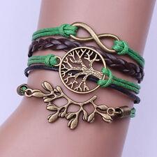 New! Hot Friendship Bracelet Tree  Fashion Leather Bracelet [5].