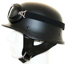 Stahlhelm Wehrmachtshelm mit Brille Motorradhelm Oldtimer Tarn Helm Camouflage