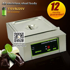 Commercial Electric Chocolate Tempering Machine Melter Maker with 1 Melting Pot
