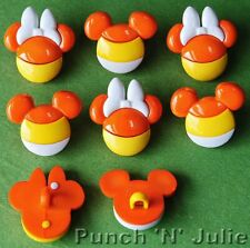 Mickey and Minnie Candy Corn - Disney Halloween Sweets Dress It Up Craft Buttons