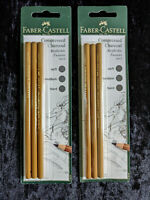 Faber-Castell Compressed Charcoal Pencils packs of three x 2.