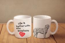"Fila Brasileiro - ceramic cup, mug ""Life is better"", Usa"