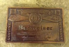 BUDWEISER BELT BUCKLE - ANHEUSER BUSCH BEER - Copper Colored