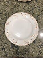 Two Thomson Pottery Hampton Salad Plates Shells EUC