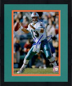 """Framed Dan Marino Miami Dolphins Autographed 8"""" x 10"""" Throwing Photograph"""