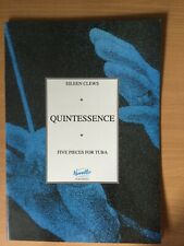 More details for clews 'quintessence'ŵ3  5 pieces for tuba with piano pub. novello pat63000