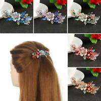 Women Lady Headwear Accessories Flower Barrettes Cute Hairpin Crystal Hair Clip