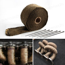 4.5M Titanium Motorcycle Exhaust Pipe Header Heat Wrap Resistant Downpipe+6 Ties
