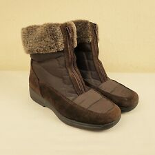 Rohde Size UK 5.5 Sympatex Waterproof Wool Lined Suede Zip Up Winter Boots Brown