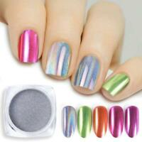 UNICORN NAIL CHROME POWDER ROSE GOLD MIRROR PINK RED DUST COLOURS EFFECT PIGMENT