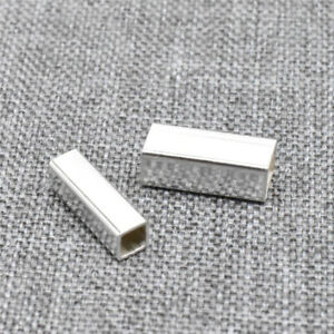 8pcs of 925 Sterling Silver Square Tube Bead for Necklace Bracelet 3x10mm 4x10mm