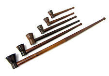 More details for smoking wooden pipe stem churchwarden polished dry herb smoke pipes