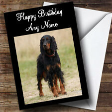 Gordon Setter Personalised Birthday Greetings Card