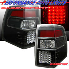 Set of Pair Black Clear LED Taillights for 2007-2016 Ford Expedition