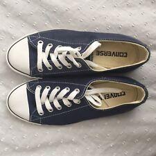 Navy Dainty Converse Shoes Size 3 Eu36