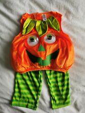 Vestido de Lujo Calabaza de Halloween Traje de 9-12 meses