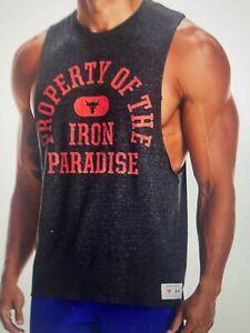 Men's Project Rock Sleeveless Property of Iron Paradise Do the Work Tank, Medium