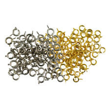 100pcs Round Spring Ring Clasps with Open Jump Ring Jewelry Making Findings